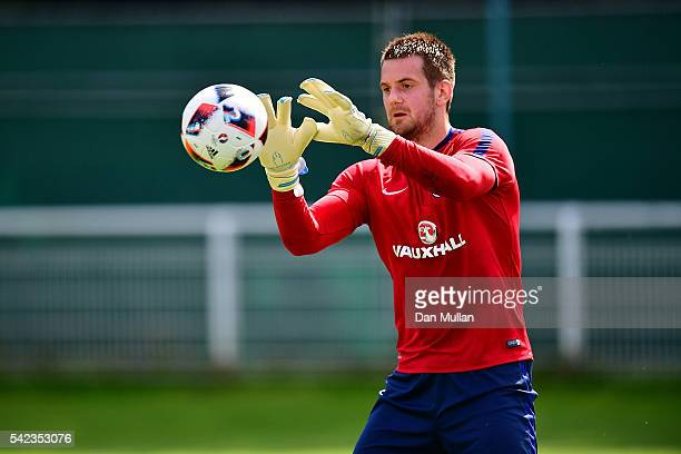Tom Heaton of England in action during a UEFA Euro 2016 England Training Session on June 23 2016 in Chantilly France