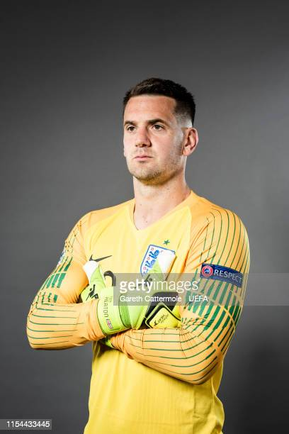 Tom Heaton of England poses for a portrait at St Georges Park on June 04 2019 in BurtonuponTrent England