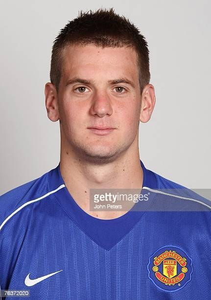 Tom Heaton of Manchester United poses during the club's annual preseason photocall at Carrington Training Ground on August 17 2007 in Manchester...