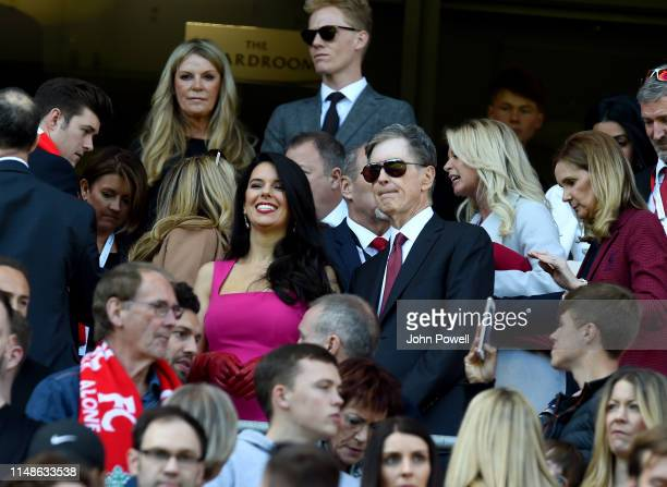 Tom Henry and wife Linda Pizzuti Henry of Liverpool during the Premier League match between Liverpool FC and Wolverhampton Wanderers at Anfield on...