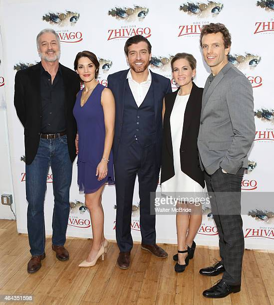 Tom Hewitt Kelli Barrett Tam Mutu Lora Lee Gayer and Paul Alexander Nolan attend Broadway's 'Doctor Zhivago' Photo Call at Celsius at Bryant Park on...
