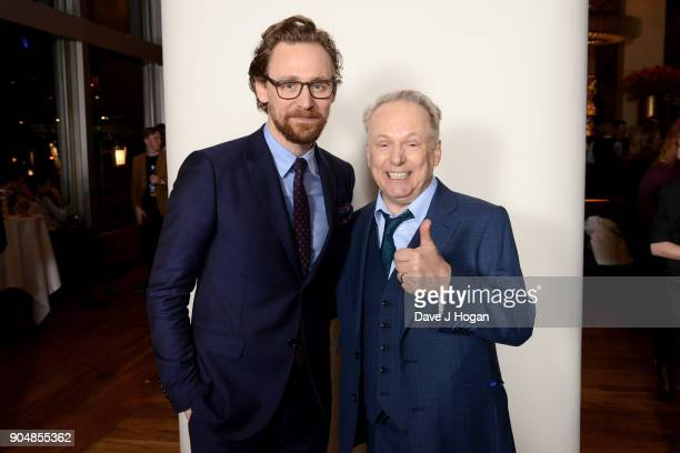 Tom Hiddleston and director Nick Park attend the 'Early Man' World Premiere after party held at Skylon on January 14 2018 in London England