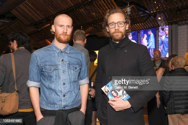 Tom Hiddleston and guest attend the press night of 'I and You' at Hampstead Theatre at Hampstead Heath on October 25 2018 in London England