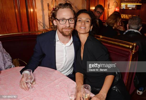 Tom Hiddleston and Indira Varma attend an after party for 'Happy Birthday Harold' a charity gala celebrating the life and work of Harold Pinter and...