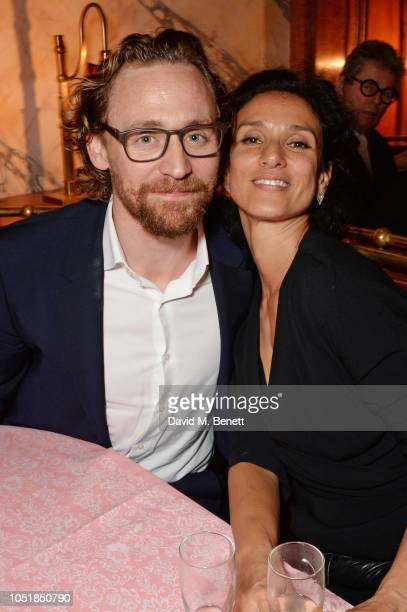 Tom Hiddleston and Indira Varma attend an after party for Happy Birthday Harold a charity gala celebrating the life and work of Harold Pinter and the...