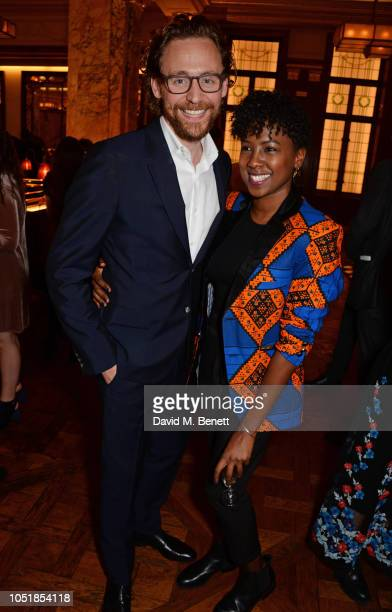 """Tom Hiddleston and Jade Anouka attend an after party for """"Happy Birthday, Harold"""", a charity gala celebrating the life and work of Harold Pinter and..."""