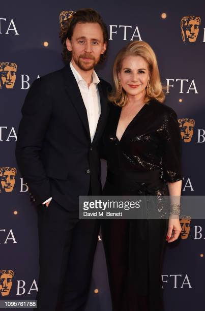 Tom Hiddleston and Kelly Barel di Sant' Albano attend the BAFTA Film Gala at the The Savoy Hotel ahead of the EE British Academy Film Awards this...