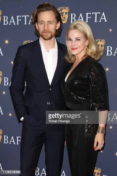 Tom Hiddleston and Kelly Barel di Sant'Albano attend the BAFTA Film Gala at the The Savoy Hotel ahead of the EE British Academy Film Awards this...