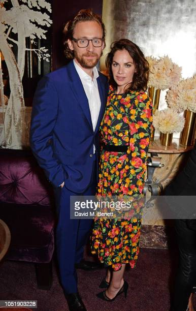 Tom Hiddleston and Ruth Wilson attend the Michael Kors cocktail party to celebrate the collaboration with David Downton at Claridge's Hotel on...