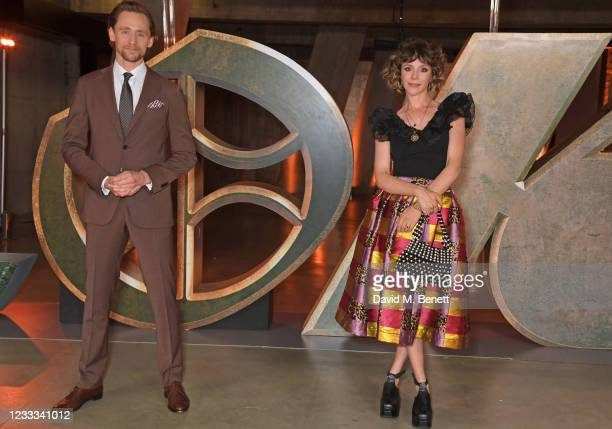 """Tom Hiddleston and Sophia Di Martino attend a special preview screening of Marvel Studios """"Loki"""" presented by Disney+ on June 8, 2021 in London,..."""