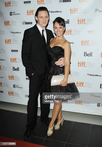 Tom Hiddleston and Susannah Fielding arrive at The Deep Blue Sea premiere held during the 2011 Toronto International Film Festival at TIFF Bell...