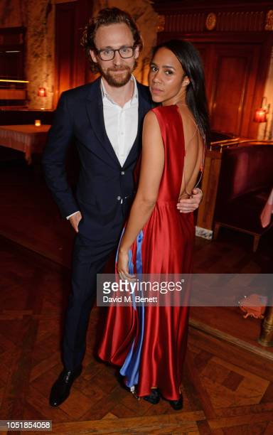 Tom Hiddleston and Zawe Ashton attend an after party for Happy Birthday Harold a charity gala celebrating the life and work of Harold Pinter and the...