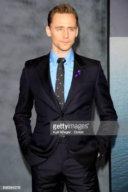 Image has been digitally retouched Tom Hiddleston arrives at the 'Kong Skull Island' premiere in Hollywood California on March 8 2017