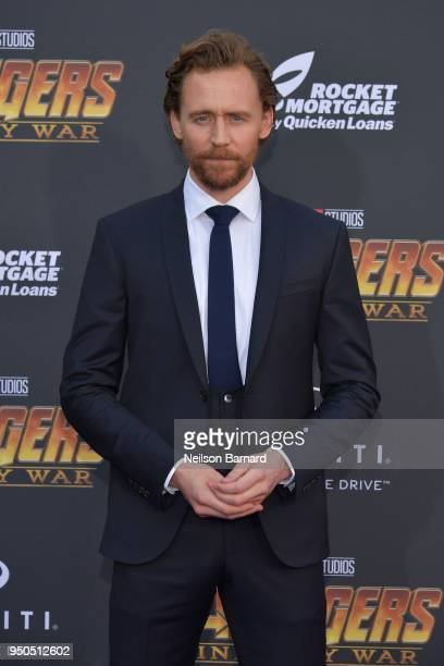 Tom Hiddleston arrives at the Premiere Of Disney And Marvel's 'Avengers: Infinity War' on April 23, 2018 in Los Angeles, California.