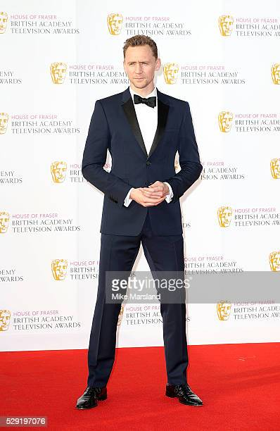 Tom Hiddleston arrives for the House Of Fraser British Academy Television Awards 2016 at the Royal Festival Hall on May 8 2016 in London England