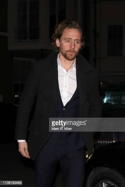 Tom Hiddleston attending a Barbara Broccoli preBAFTA party at Spencer House on February 07 2019 in London England