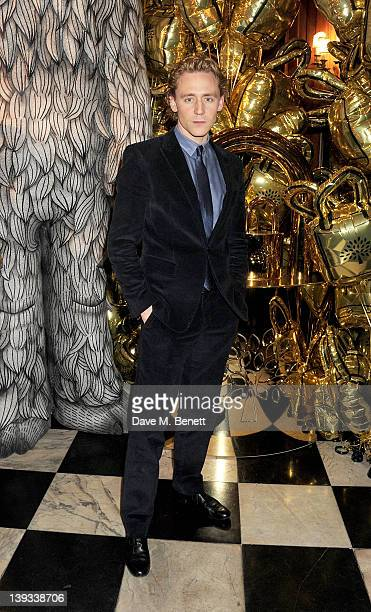 Tom Hiddleston attends a dinner following the Mulberry Autumn/Winter 2012 show during London Fashion Week at The Savile Club on February 19 2012 in...