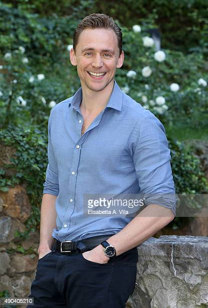 Tom Hiddleston attends a photocall for 'Crimson Peak' at Le Jardin de Russie on September 28 2015 in Rome Italy