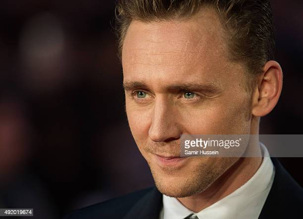 Tom Hiddleston attends a screening of 'High Rise' during the BFI London Film Festival at Odeon Leicester Square on October 9 2015 in London England