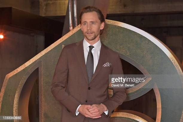 """Tom Hiddleston attends a special preview screening of Marvel Studios """"Loki"""" presented by Disney+ on June 8, 2021 in London, England."""