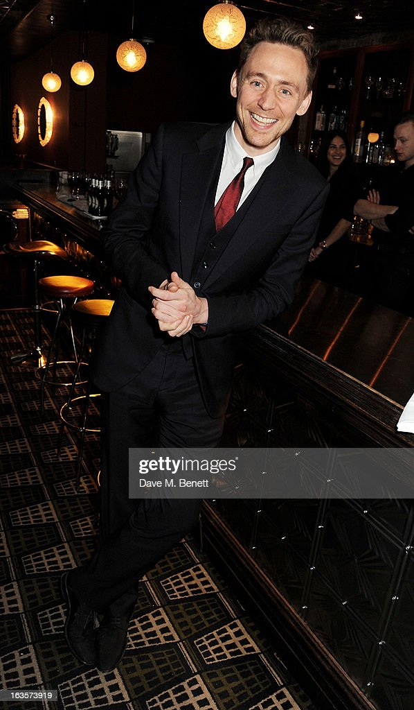 Tom Hiddleston attends an after party celebrating the press night performance of 'The Curious Incident of the Dog in the Night-Time' at Century on March 12, 2013 in London, England.