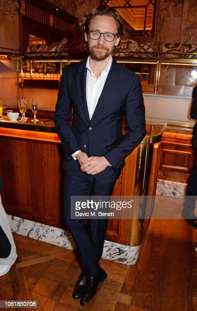 Tom Hiddleston attends an after party for 'Happy Birthday Harold' a charity gala celebrating the life and work of Harold Pinter and the press night...