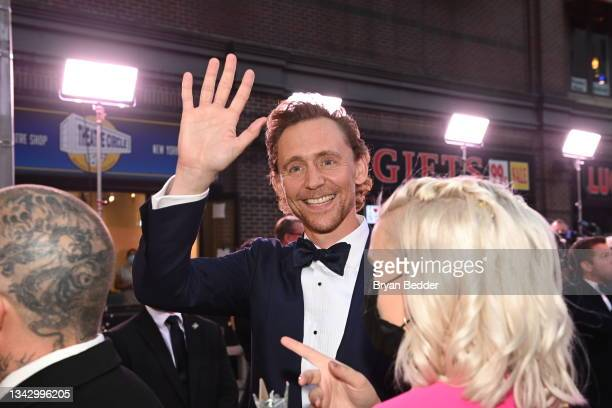 Tom Hiddleston attends the 74th Annual Tony Awards at Winter Garden Theater on September 26, 2021 in New York City.