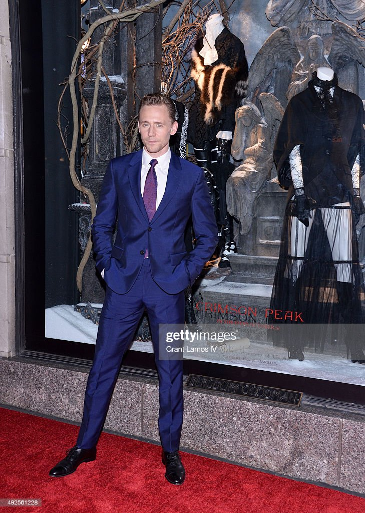 Tom Hiddleston attends the Bergdorf Goodman 'Crimson Peak' inspired window unveiling at Bergdorf Goodman on October 13, 2015 in New York City.