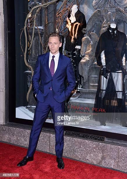 "Tom Hiddleston attends the Bergdorf Goodman ""Crimson Peak"" inspired window unveiling at Bergdorf Goodman on October 13, 2015 in New York City."