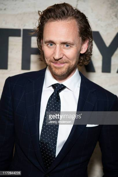 """Tom Hiddleston attends the Broadway Opening Night of """"Betrayal"""" at THE POOL in the Seagram Building on September 5, 2019 in New York City."""