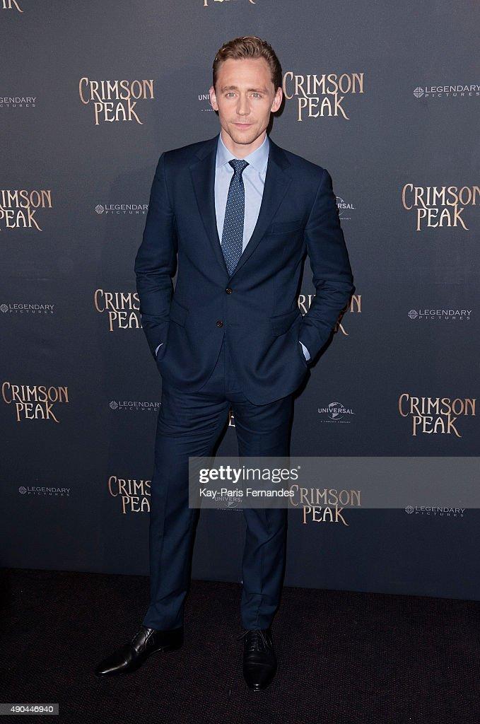 Tom Hiddleston attends the 'Crimson Peak' Paris Premiere at UGC Cine Cite Bercy on September 28, 2015 in Paris, France.