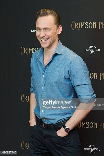 Tom Hiddleston attends the 'Crimson Peak' photocall at The Regent Hotel on September 30 2015 in Berlin Germany