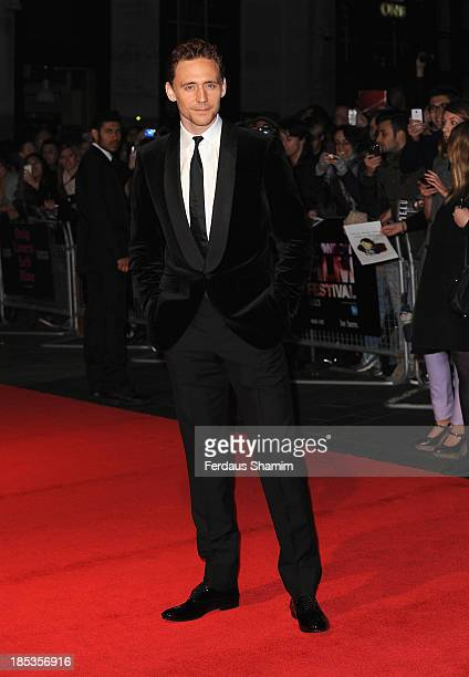 """Tom Hiddleston attends the Cult Gala In Association With Sight & Sounds of """"Only Lovers Left Alive"""" during the 57th BFI London Film Festival at Odeon..."""