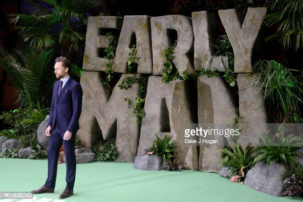 Tom Hiddleston attends the 'Early Man' World Premiere held at BFI IMAX on January 14 2018 in London England