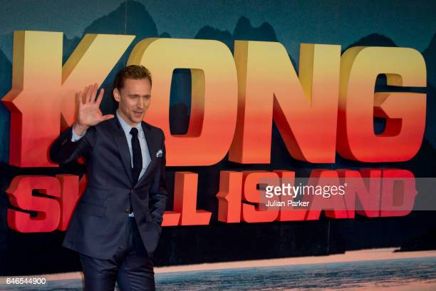 Tom Hiddleston attends the European premiere of 'Kong Skull Island' at the Cineworld Empire Leicester Square on February 28 2017 in London United...
