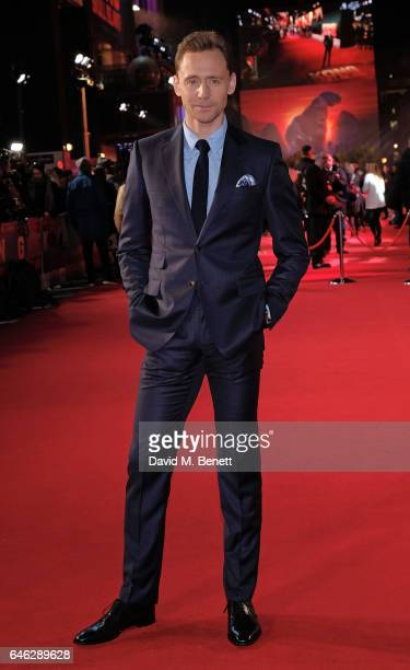 Tom Hiddleston attends the European Premiere of Kong Skull Island on February 28 2017 in London England