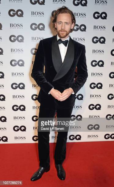Tom Hiddleston attends the GQ Men of the Year Awards 2018 in association with HUGO BOSS at Tate Modern on September 5 2018 in London England