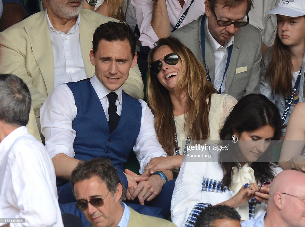 Tom Hiddleston attends the Mens Singles Final on Day 13 of the Wimbledon Lawn Tennis Championships at the All England Lawn Tennis and Croquet Club on July 7, 2013 in London, England.