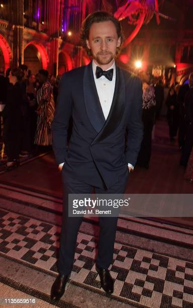 Tom Hiddleston attends The Olivier Awards 2019 after party at The Natural History Museum on April 7 2019 in London England