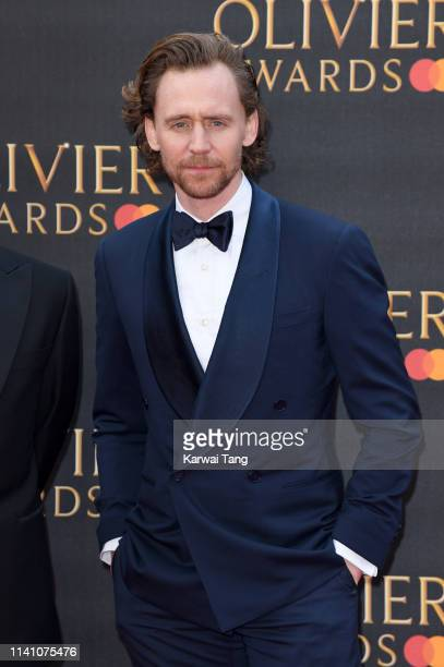Tom Hiddleston attends The Olivier Awards 2019 with MasterCard at Royal Albert Hall on April 07 2019 in London England