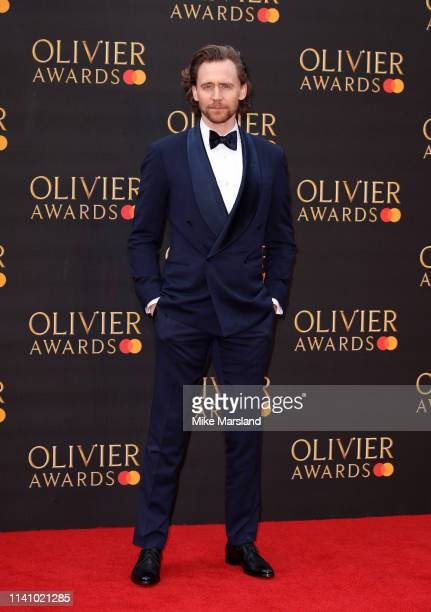 Tom Hiddleston attends The Olivier Awards 2019 with MasterCard at the Royal Albert Hall on April 07 2019 in London England