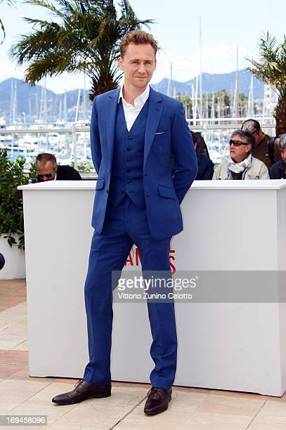 Tom Hiddleston attends the 'Only Lovers Left Alive' photocall during The 66th Annual Cannes Film Festival at Palais des Festival on May 25 2013 in...