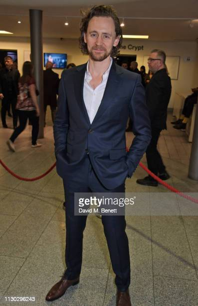 Tom Hiddleston attends the press night after party for Betrayal at The Cafe In The Crypt St MartinintheFields on March 13 2019 in London England