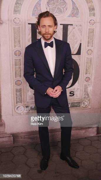 Tom Hiddleston attends the Ralph Lauren fashion show during New York Fashion Week at Bethesda Terrace on September 7 2018 in New York City