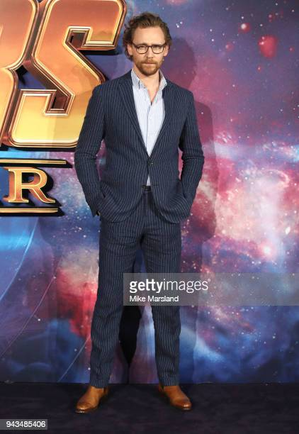 Tom Hiddleston attends the UK Fan Event for Avengers Infinity War at Television Studios White City on April 8 2018 in London England