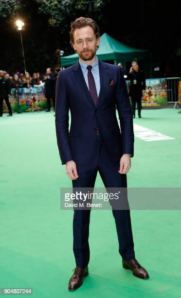 Tom Hiddleston attends the World Premiere of 'Early Man' at BFI IMAX on January 14 2018 in London England