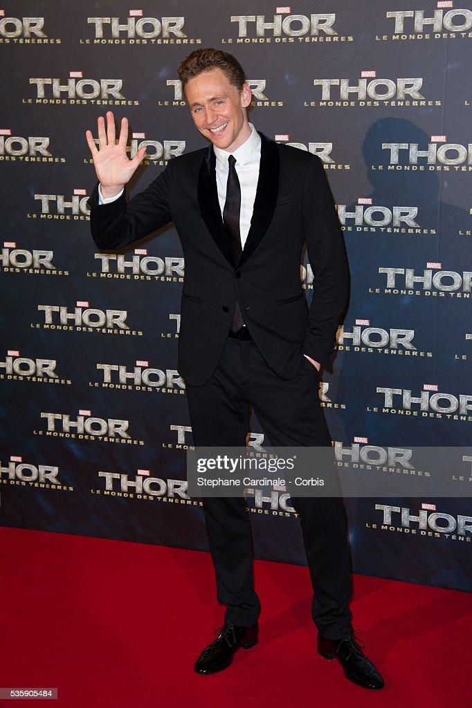 Tom Hiddleston attends 'Thor: The Dark World' Premiere at Le Grand Rex Cinema, in Paris.