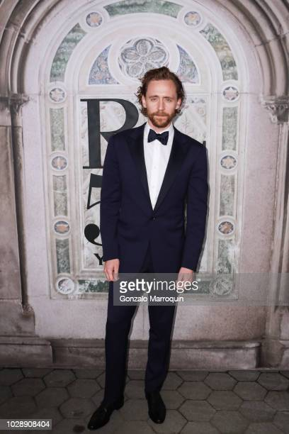 Tom Hiddleston during the Ralph Lauren 50th Anniversary September 2018 New York Fashion Week at Bethesda Terrace on September 7 2018 in New York City