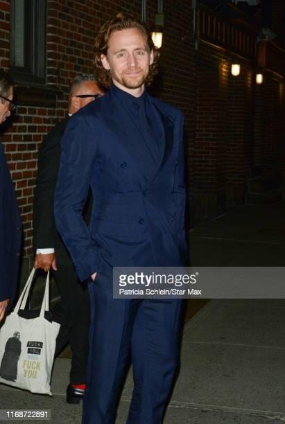 Tom Hiddleston is seen on September 16, 2019 in New York City.