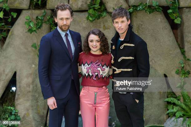 Tom Hiddleston Maisie Williams and Eddie Redmayne attend the world film premiere of 'Early Man' at the BFI Imax cinema in the South Bank district of...